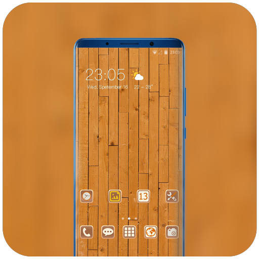 Theme for Samsung Galaxy A8 a9 Star wood wallpaper icon