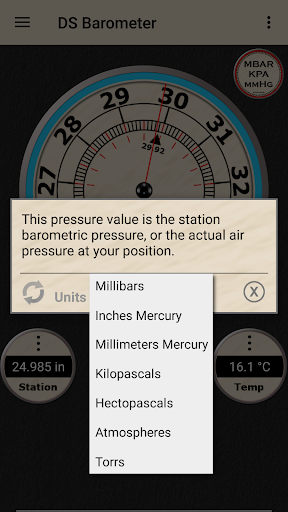 DS Barometer - Altimeter and Weather Information  screenshots 4