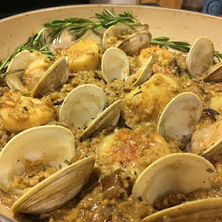 Freekeh Seafood Risotto.