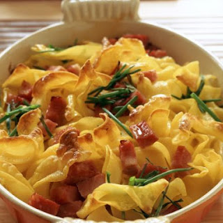 Ham and Pasta Bake with Herbs.