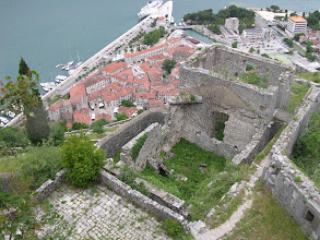 Photo: Dizzy heights from the fortress behind stunning Kotor