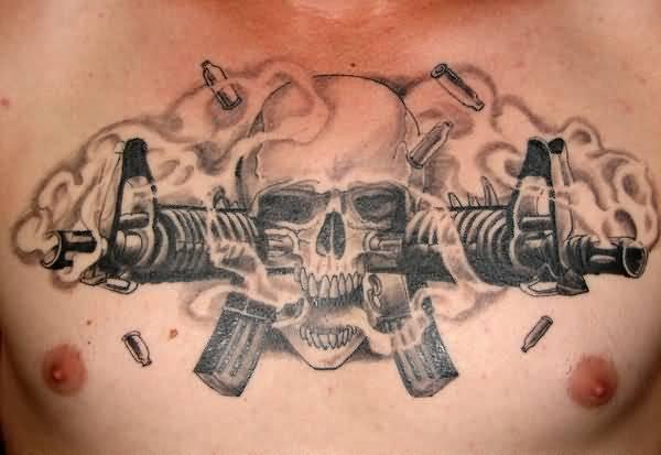 50 ลายสักกระสุนปืน เท่ห์ๆ หล่อจัด โหดจัด31