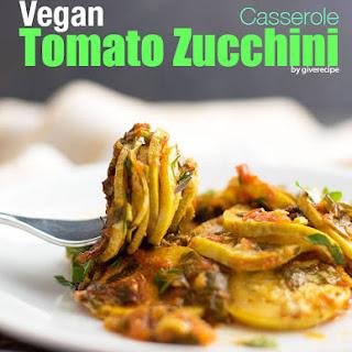 Vegan Tomato Zucchini Casserole.