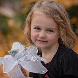 flower by Melissa Marie Gomersall - Babies & Children Child Portraits ( beautiful, 5, year, old, autumn, christmas )