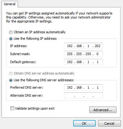 Setting IP Static pada PC