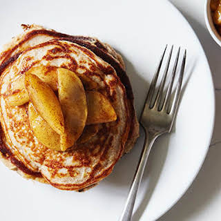 Apple Cinnamon Protein Pancakes.