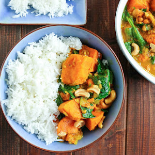 Sweet Potato, Spinach & Cashew Curry