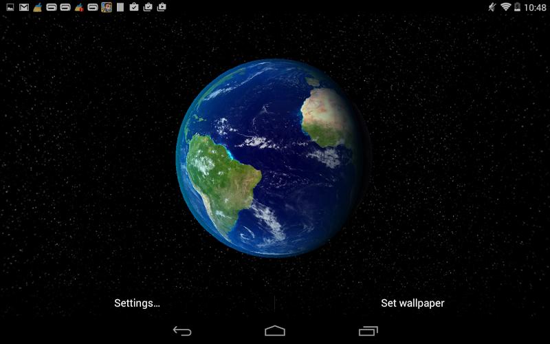 Скриншот Dynamic Earth Live Wallpaper