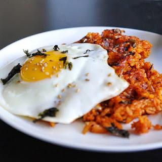 Waffle Kimchi Fried rice.