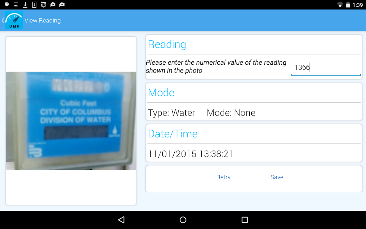 Utility Meter Reader- screenshot