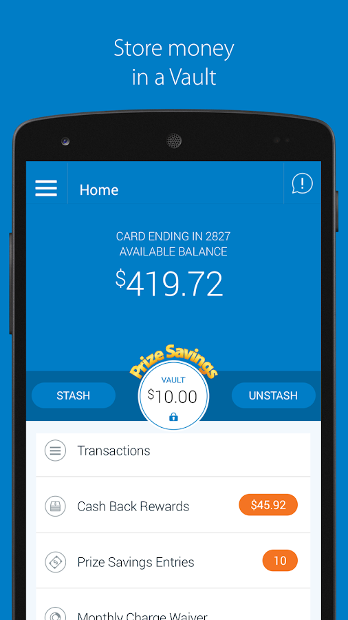 Walmart MoneyCard- screenshot