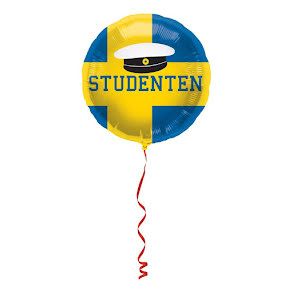 Folieballong, student 45 cm