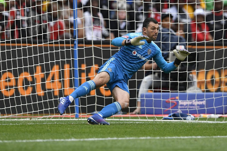 Wayne Sandilands of Orlando Pirates during the Absa Premiership match between Orlando Pirates and Kazier Chiefs at FNB Stadium on February 09, 2019 in Johannesburg, South Africa.