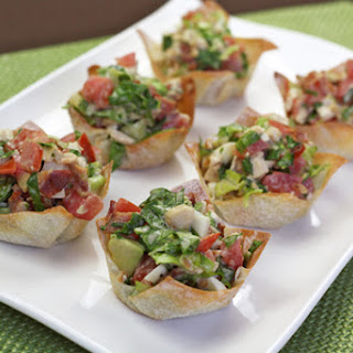 Wonton Cup Appetizers Recipes.