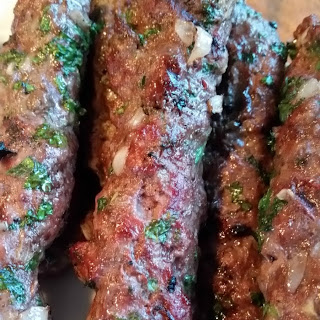 Grilled Kafta Kebabs and a Cookbook Review.