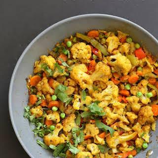8 Spice Veggie Stir fry - Vegetable Masala Subzi.