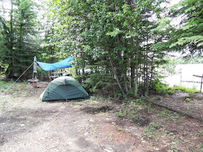 Photo: letztes Camp am Athabasca River bei Chisholm