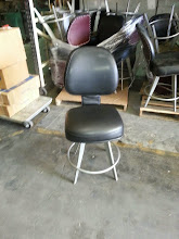 Photo: Leather short swivel stools $30