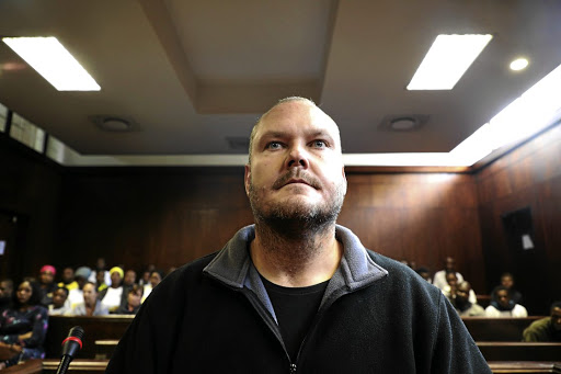 Lukas van der Merwe in court yesterday.