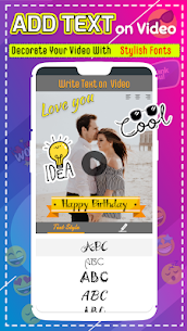 Add text to video: Text editor, watermark on video apk download 2