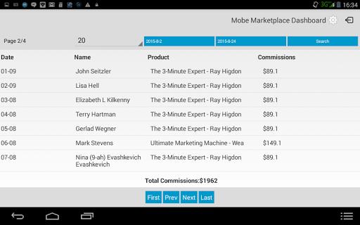 Mobe Marketplace Dashboard App