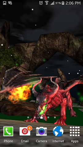 android Legendary Dragons 3d Lwp Lite Screenshot 6