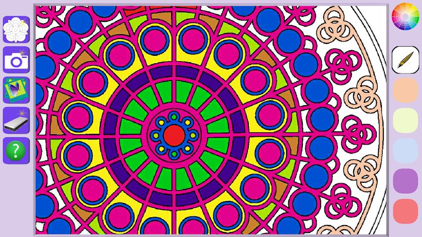 android De Stress Mandala Painting Screenshot 5