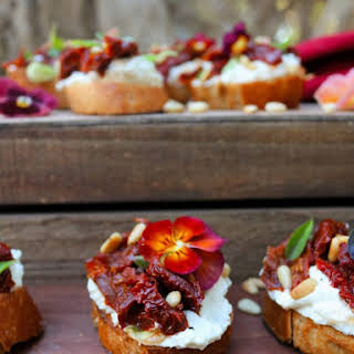 Feta Sun-Dried Tomatoes Bruschetta.