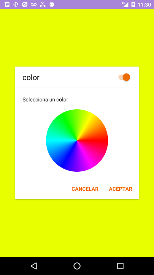 Colorcall: captura de pantalla