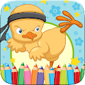 Easter Chick Colorbook Drawing icon