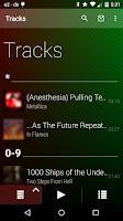 Screenshot of Lithium Music Player