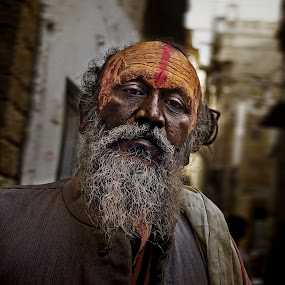 Sadhu by Gernot Koller - People Portraits of Men ( sadhu, india, holy man )