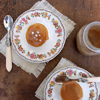 -Pumpkin Mini Cheesecakes with Salted Caramel Topping.