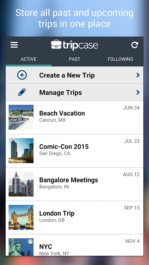 TripCase – Travel Organizer- screenshot