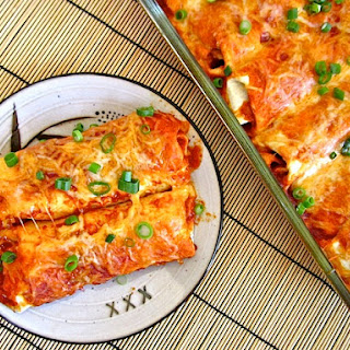 Chorizo & Sweet Potato Enchiladas.