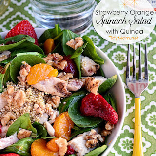 Strawberry Orange Spinach Salad with Quinoa