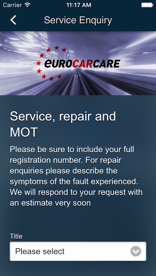 Euro Car Care- screenshot