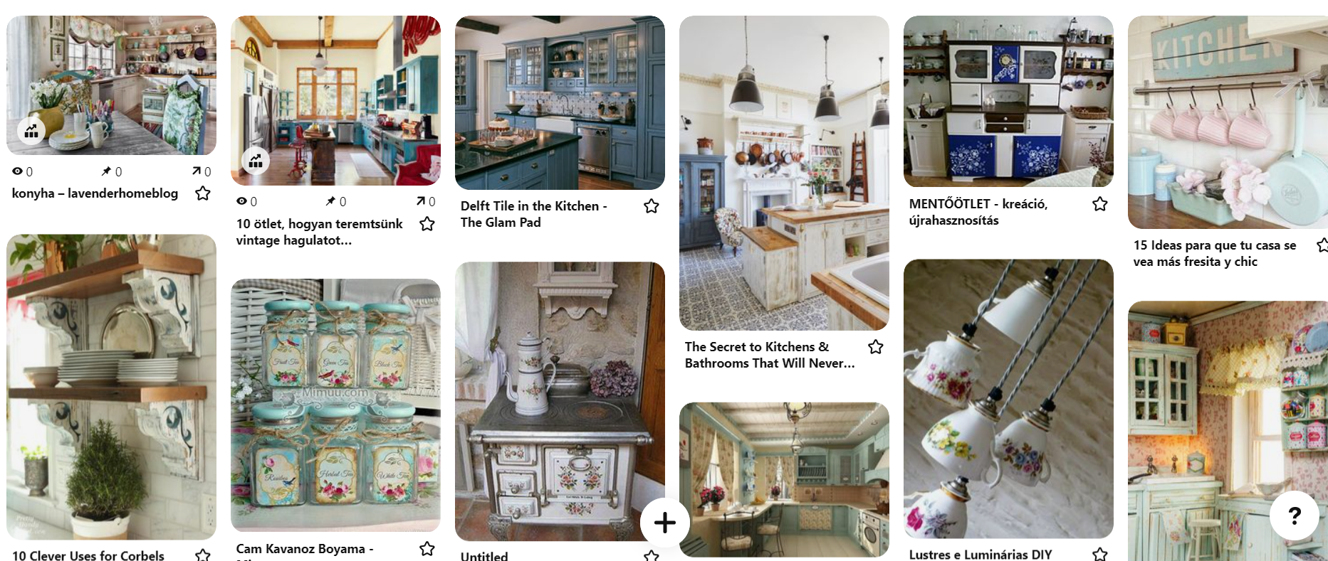 Rengeteg vintage konyha ötlet képekben - Kattints ide Pinterest