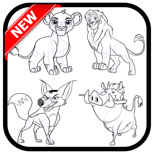 how to draw the lionn and friends (app)