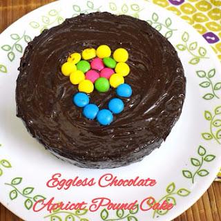 Eggless Chocolate Apricot Pound Cake.