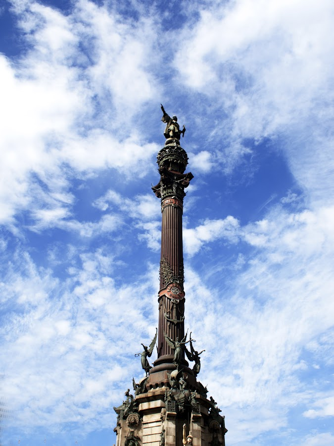 Columbus statue by Tjaša Gale - Buildings & Architecture Statues & Monuments ( sky, columbus statue, monument, historical, barcelona )