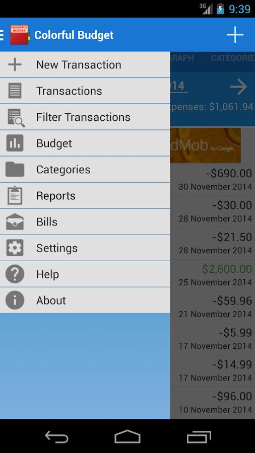 Colorful Budget - screenshot