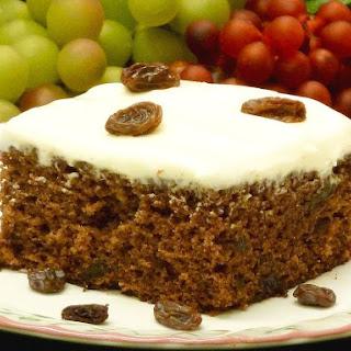 Applesauce Raisin Cake.