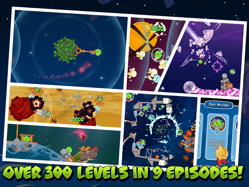 Скриншот Angry Birds Space