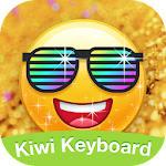 Kiwi Keyboard Glitter Golden emoji