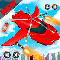 Flying Car Shooting Game- Modern Car Driving Games icon