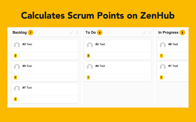 ZenHub Scrum Point Counter