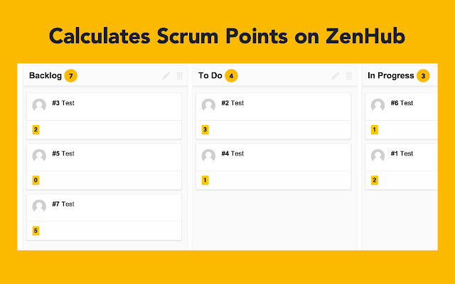 ZenHub Scrum Point Counter