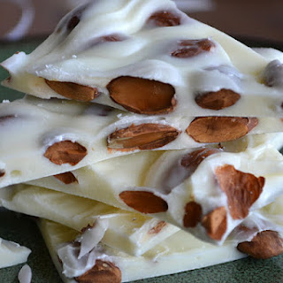 White Toasted Almond Bark with Sea Salt.