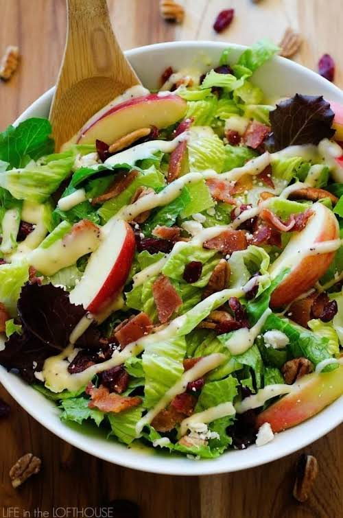 "Autumn Chopped Salad ""This delicious salad is filled with chopped leafy greens,..."